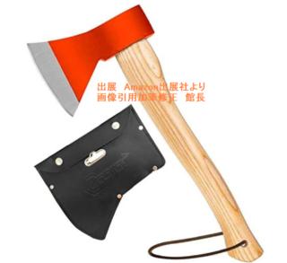 画 斧 野外キャンプ用品 薪割り 手斧 38cm 鉈 ガーデン用手斧 ケース付き 焚き火台